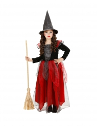 Glitter en tule heks kostuum voor meisjes