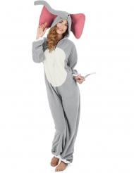 Grijs olifanten pak voor dames