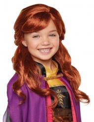 Luxe Anna Frozen 2™ pruik voor meisjes