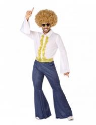 Goudkleurig en jean disco kostuum voor mannen