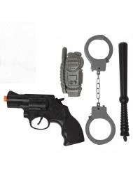 4-delige politie accessoire set
