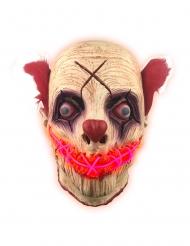 Latex rood LED masker clown voor volwassenen
