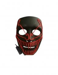 Luxe evil clown LED masker voor volwassenen