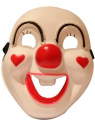 Lachend clown led masker voor volwassenen