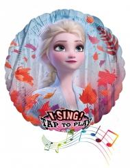 Aluminium Frozen 2™ ballon met muziek 71 cm