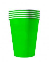 20 groene recyclebare bekers van karton 53 cl