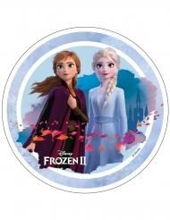 Anna en Elsa Frozen 2™ taartschijf 21 cm
