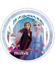 Anna, Elsa en Olaf Frozen 2™ taartschijf 21 cm
