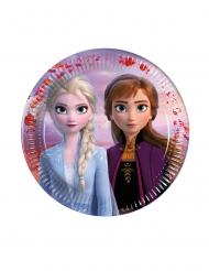 6 kleine kartonnen Frozen 2™ bordjes 16 cm