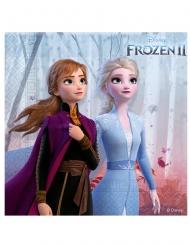 16 kleine papieren servetten Frozen 2™ 25x25 cm