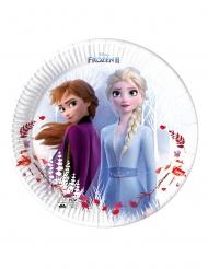 8 kartonnen Frozen 2™ bordjes composteerbaar 23 cm