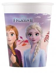 8 composteerbare kartonnen Frozen 2™ bekers 200ml