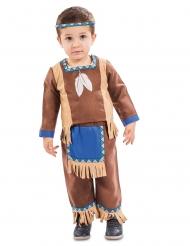 Bruin met blauw indianen kostuum voor baby