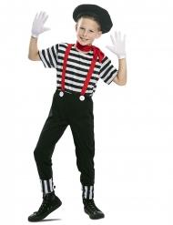 Mime kostuum met baret voor jongens