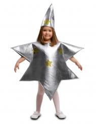 Zilverkleurige ster kostuum voor kinderen