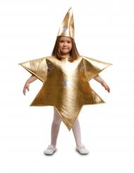 Goudkleurige ster kostuum voor kinderen