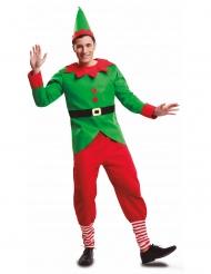Rode en groene kerstelf outfit voor mannen