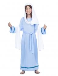 Blauw maagd Maria kostuum voor meisjes
