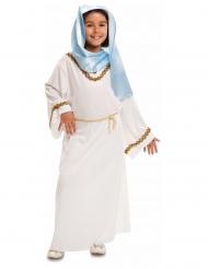 Wit en blauw Maria kostuum voor meisjes