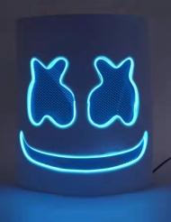 Marshmallow blauw LED masker voor volwassenen