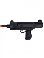Zwarte mitrailleur met geluid 50 cm