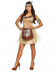 Glinsterend indianen kostuum voor dames
