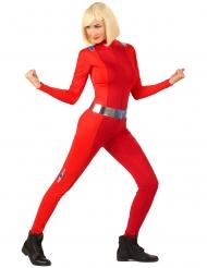 Rood spion kostuum voor dames