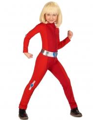 Rood spion kostuum voor meisjes