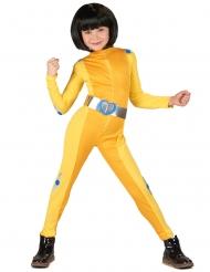 Geel spion kostuum voor meisjes