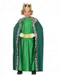 3 Koningen kostuum groen voor kinderen