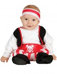 Rood met wit piraten kostuum voor baby