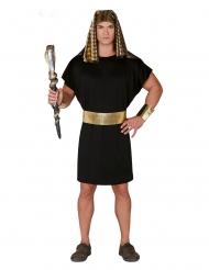 Zwart met goud Farao kostuum voor mannen