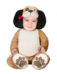 Kleine bruine hond kostuum voor baby