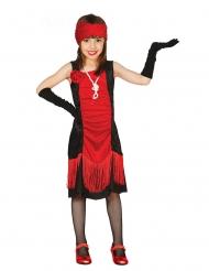 Rood jaren 20 cabaret kostuum voor meisjes