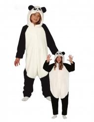 Panda kostuum met capuchon voor kinderen