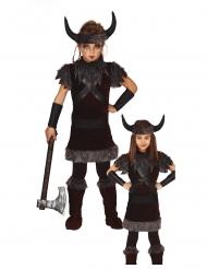 Donkerbruin viking kostuum voor kinderen