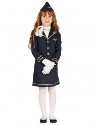 Blauw stewardess kostuum voor kinderen