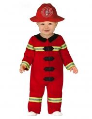 Kleine brandweerman kostuum voor baby