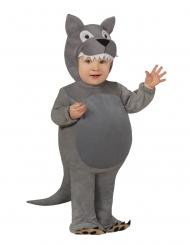 Grijs wolf kostuum voor baby