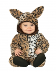 Pluche luipaard kostuum voor baby