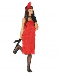 Rood charleston kostuum met franjes voor meisjes