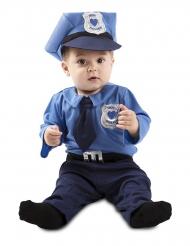 Blauw baby politie agent kostuum