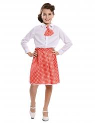 Rode pin-up rok met stropdas voor meisjes