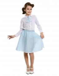 Hemelsblauwe pin-up jurk met stropdas voor meisjes