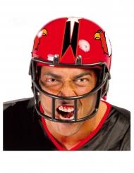 Rode American football helm voor volwassenen