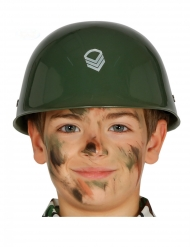 Groene soldaten helm voor kinderen