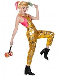 Gouden Harley Quinn Birds of Prey™ kostuum voor dames