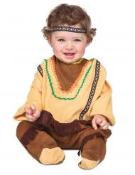 Bruin en lichtbruin indianen kostuum voor baby