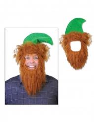 Kabouter hoed met baard voor volwassenen