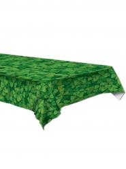 Plastic groen tafelkleed met klavers 137 x 274 cm